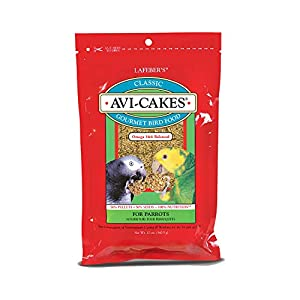 LAFEBER'S Classic Avi-Cakes Pet Bird Food, Made with Non-GMO and Human-Grade Ingredients, for Parrots, 12 oz 85