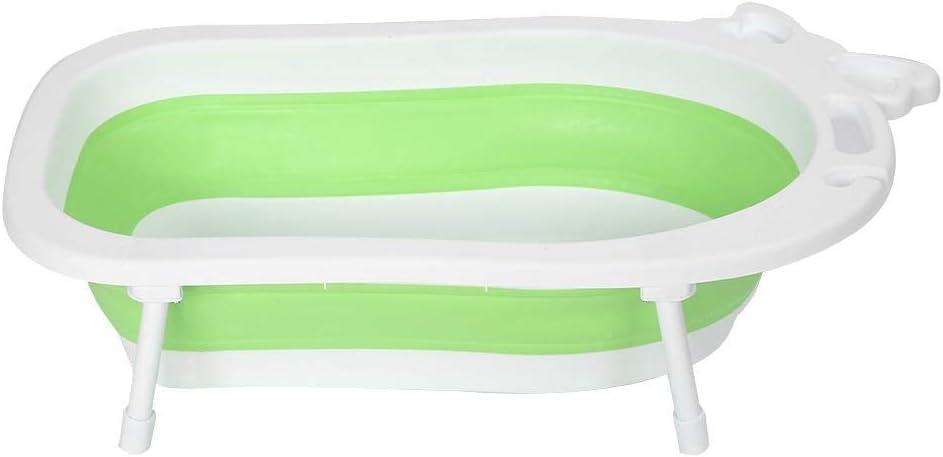 Pierna de Antideslizante Color Verde Ba/ñera Plegable Ba/ñeras para Beb/és Ni/ño y Infantil Ba/ñeras de Viaje Port/átil