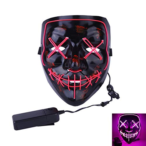 Anroll Halloween Mask LED Light Up Purge Mask for Festival Cosplay Halloween Costume for $<!--$16.89-->