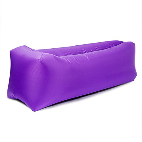 Sleeping Cloud Inflatable Lounger Bag Ripstop - Outdoor Hammock Portable Air Sofa Bag - Hangout Air Couch Sleeping Bag For Hiking Camping Picnics&Music Festivals (Purple)