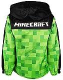 Minecraft Boy's Hooded Jacket, Green, 11-12 Years