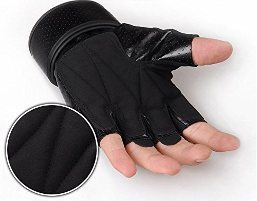 Workout Gloves Anti-Slip Semi - Finger Gloves for Outdoor Mountaineering,Weightlifting Cross Training Cycling Fitness by Pemukiten