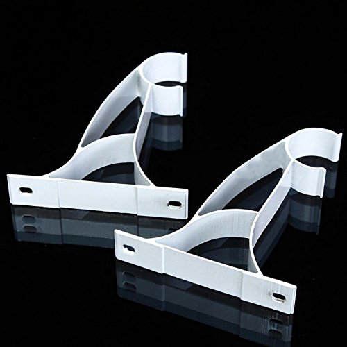 Curtain Rod Brackets - 1 Pair Curtain Rod Brackets Accessories Drapery Pole Ceiling Mounted Rod Holder (Rod Closet Angled Bracket)