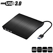 External DVD CD Drive, USB 3.0 Optical CD DVD Burner Superdrive Ultra Slim Portable DVD, for Mac Macbook Air Macbook Pro iMac Ultrabook and other Laptop