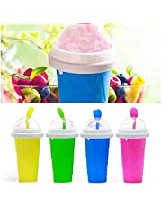 Slushie Maker Cup, TIK TOK Magic Quick Frozen Smoothies Cup, Magic Slushy maker Silica Cup,Double Layer Squeeze Cup Slushy Maker, Homemade Milk Shake Ice Cream Maker DIY it for Children and Family, DIY Homemade Smoothie Cups Freezes Drinks Cup Frozen Magic Squeeze Cup, Protable Double Layer Summer Juice Ice Cream Cup for Children Fast Cooling
