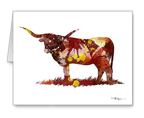 Texas Longhorn - Set of 10 Note Cards With Envelopes