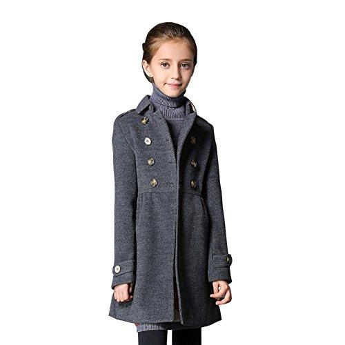 big sale b1ab3 f14d2 JINZFJG JINZFJG Kinder Mädchen Trench Wintermantel ...
