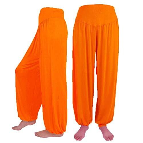 Donna Allentati Modali Elecenty Pantaloni Cotone Arancione Di Donne Casual Delle Ballo Casuali Yoga Harem Sport Elastici qxUCEPx