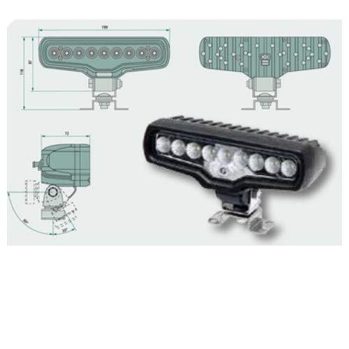 Proyector de trabajo de LED Universal con medidas exteriores ...