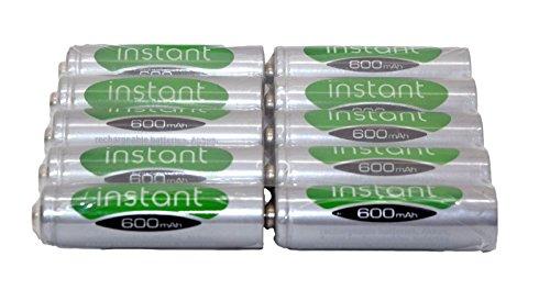 10 x AA 1.2V 600mAh NiMH Rechargeable Batteries Garden Solar Lights LSD...