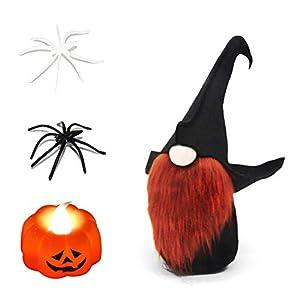 ITOMTE Handmade Swedish Gnome, Scandinavian Halloween Witch Tomte, Yule Santa Nisse, Nordic Figurine, Plush Elf Toy…