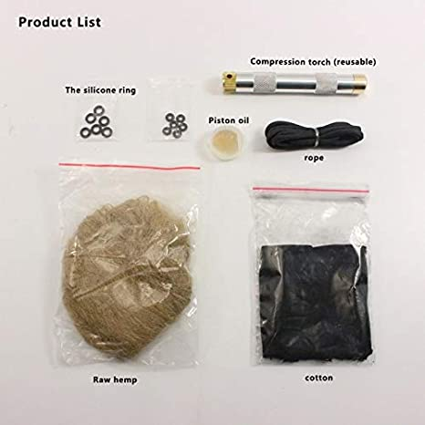 Amazon.com: Best Quality Flint fire Starter kit Primitive fire Starter with fire Tube Dry Grass Pocket Box for Camping BBQ Outdoor Survival Tool: Sports & ...