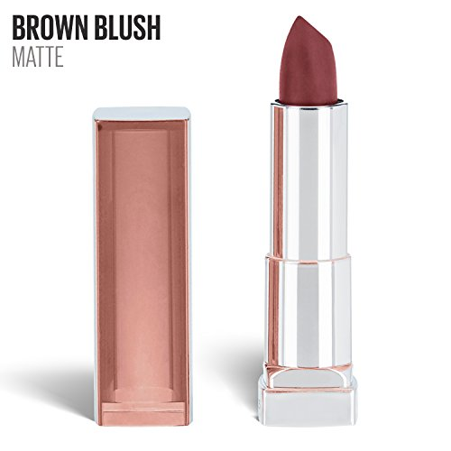 Maybelline New York Color Sensational Inti-Matte Nudes Lipstick, Brown Blush, 0.15 oz. (Best Matte Lipstick For Dark Skin)