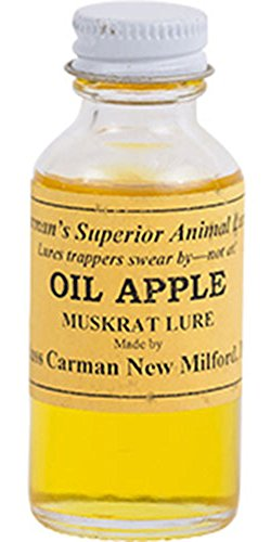 Oil Apple Muskrat Lure By Russ Carman  1 Oz  Bottle