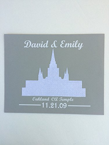 Gift for LDS Wedding Personalized Temple Picture 8x10