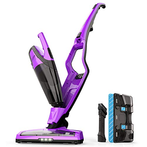 Homever Cleaner, 3 in 1 Upright Stick Cordless Bagless Vacuum for Carpet, Hard Floor and Pet with XL Dust Cup and Brushroll, Purple ()