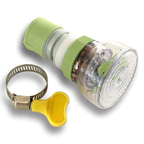 - Water Saving Faucet Sprayer Nozzle, Splash-Proof Sprayer, Kitchen Sink Faucet Nozzle Filter Attachment (360° Swivel, Green)