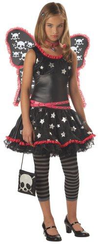 Tween Skulls and Stars Gothic Fairy Costume -