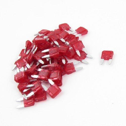 60PCS 10A 10 Ampere-Automobil Mini Blade-Sicherungen Rot für Auto, Modell: a13071500ux0002, Tools & Baumarkt