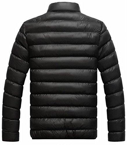 Nero Del M Ci Moda Basamento Collare D'inverno Eku Cappotto Maschile Zip Piumini Caldo ggxqvwt