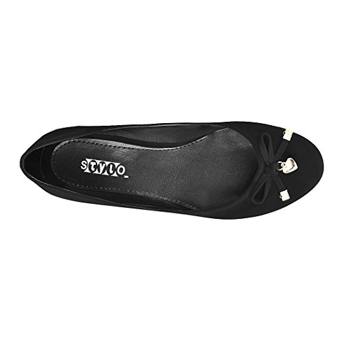 ZAPATOS STYLO NEGRO DE 26 SUEDE PISO 4rrwgE