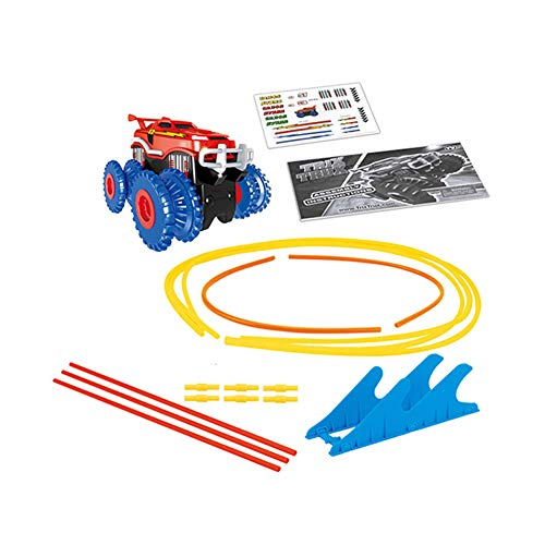Childplaymate Electric Track Toy Car Rope Monster Trucks Vehicles Stunt Railway Toy Car Racing Rail Car