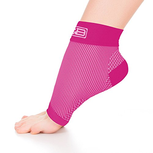 Go2 Plantar Fasciitis Socks| Best Ankle Compression Brace - Arch Support Joint Heel Pain Relief | Foot Sleeves for Women and Men Reduce Swelling | Relieve Achilles Tendonitis(Pink Large)