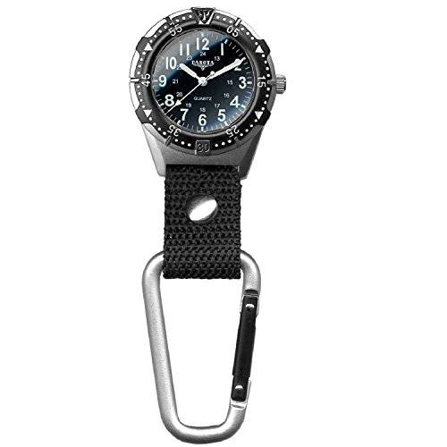 Dakota Watch Company Men's Aluminum Backpacker Clip Watch, Black ()