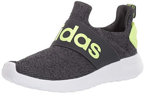 adidas Unisex LITE Racer Adapt K Sneaker, Grey Six/Yellow/core Black, 5 M US Little Kid