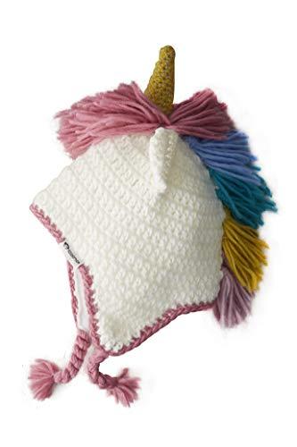 (Newborn Baby Girl Knitted Unicorn Hat Earflap Hood Beanie Warm for Autumn Winter)