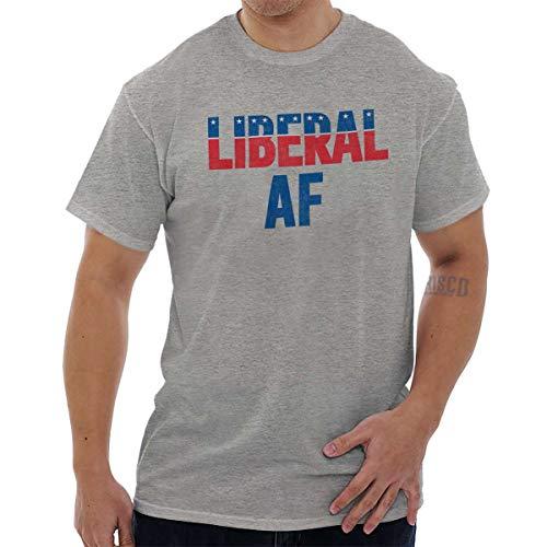 Liberal AF Pro Democrat Left Wing Liberal T Shirt Tee Sport Grey