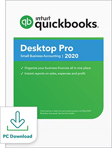 QuickBooks Desktop  Pro 2020  Accounting Software for Small Business with Amazon Exclusive Shortcut Guide [PC Download]