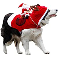 Royal Wise Running Santa Christmas Pet Costume (Several Sizes)