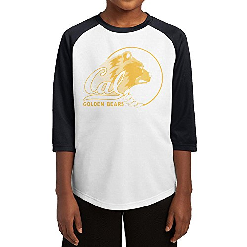 Custom Mascot Costumes California (KSWFA Youth Boys California University Berkeley Raglan Tee Baseball Shirt Black Size S)