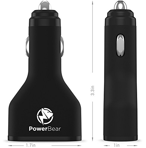 PowerBear Qualcomm speedy fee 30 vehicle Charger 2 Port USB vehicle Charger 45W twice USB particularly rapidly vehicle Charger USB Qualcomm 30 Certified Black 24 Month warrantee vehicle Chargers