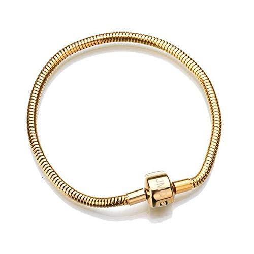 JMQJewelry Snake Chain Snake Chain Bracelet Charm 21cm/8.27in Lobster Clasp Women Christmas (Steel Pandora Bracelet)