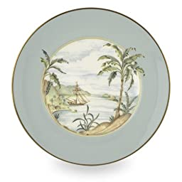 Lenox Colonial Tradewind Gold Banded Bone China 9-Inch Accent Plate