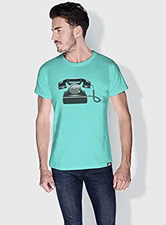 Creo Phone Retro T-Shirts For Men - Xl, Green