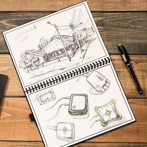 NEWYES Taccuino Riutilizzabile Inteligente Penna Inclusa 6.9X9.8-B5