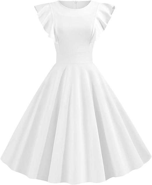 Patricks Day Womens Shamrock Evening Print Party Prom Swing Bow Dress yoyorule Women Casual Top /& Dress St