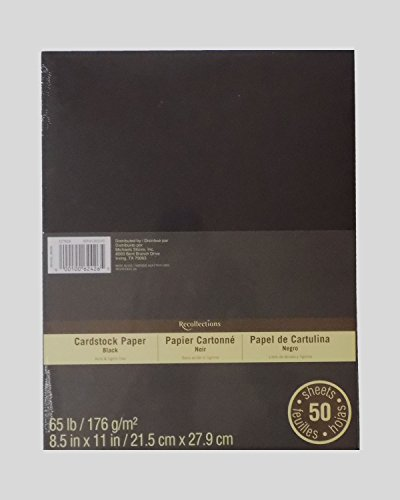 Recollections Cardstock Paper 8.5 x 11 - 50 Sheets - Black