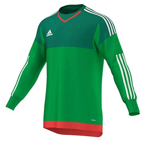 Adidas Top 15 Goalkeeper Mens Soccer Jersey L Green-White-Bright Red (Adidas Soccer Goalie Jerseys)