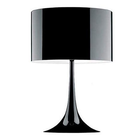 Bdbqbl pantallas Lampara de mesa de metal moderno loft de diseño ...