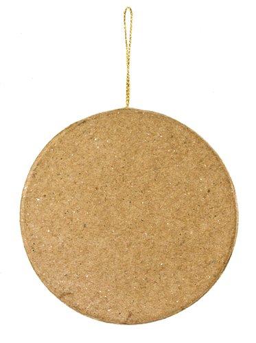 Ornaments Flat Paper - 3-3/4 inch Flat Round Plain Paper Mache Ornaments 6 Pieces