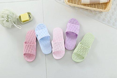 Haolong - Zapatillas de estar por casa para mujer morado