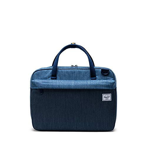 - Herschel Gibson Laptop Messenger Bag, Faded Indigo Denim, One Size