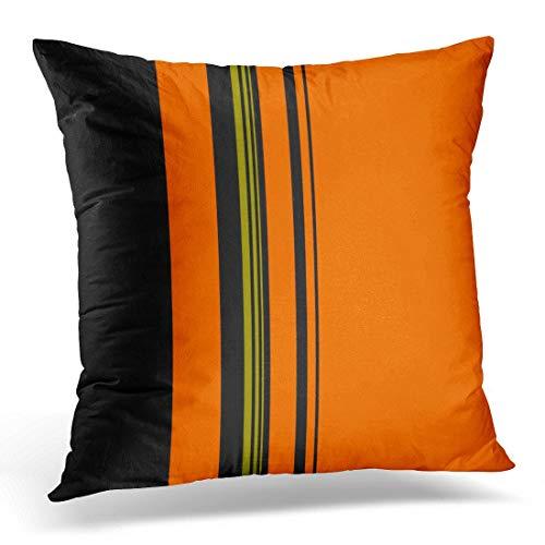 Nextchange Stripe Orange Black Green Pattern Halloween Cotton Creative Design Pillowcase (Two Sides) Pillow Cover Great Festival Gift]()