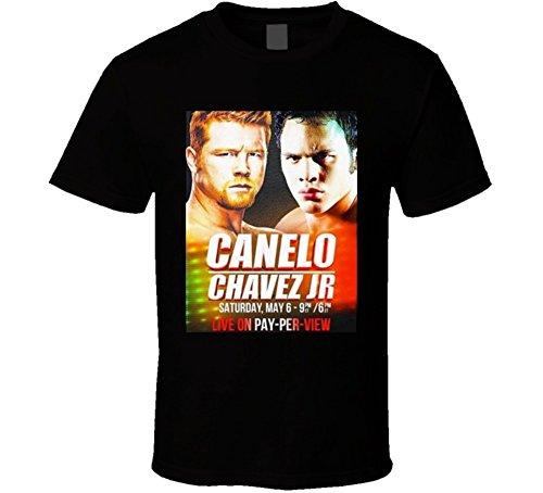 Saul Canelo Alvarez Vs Julio Cesar Chavez JR May 6th Fight Poster Boxing T Shirt XL Black (Julio Cesar Chavez Jr Vs Canelo Alvarez)