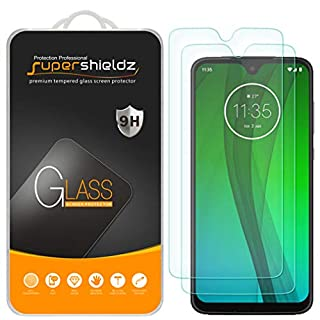(2 Pack) Supershieldz for Motorola Moto G7 Tempered Glass Screen Protector, Anti Scratch, Bubble Free