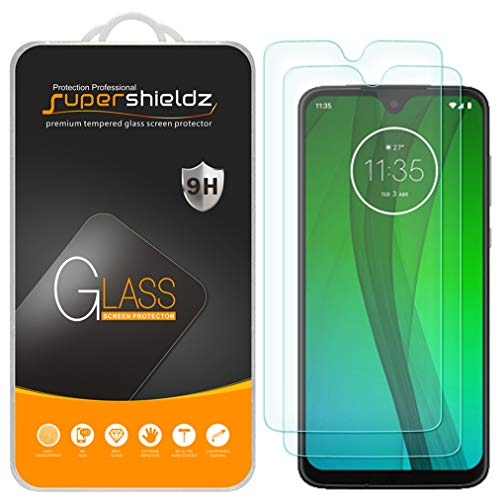 (2 Pack) Supershieldz for Motorola Moto G7 Tempered Glass Screen Protector, Anti Scratch, Bubble Free (Screen For Motorola Phone)